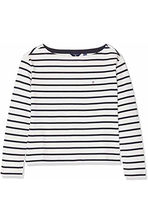GANT Girl's TG. Breton Stripe Boatneck LS TOP Long Sleeve, (Eggshell)