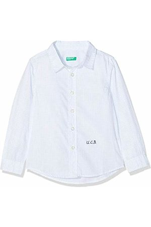 Benetton Boy's Shirt Blouse, Sky -Check