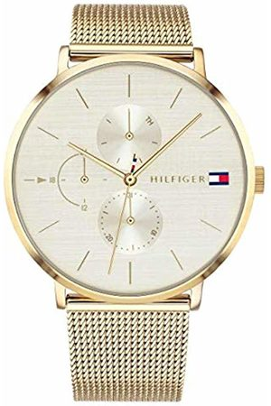 Tommy Hilfiger Womens Multi dial Quartz Watch with Plated Strap 1781943