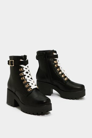 NASTY GAL Womens Give 'Em the Boot Chunky Boot - - 3