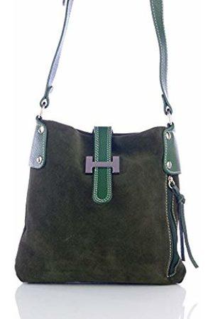 Firenze Artegiani Women's Handbag Genuine Leather Chamois Finish Shoulder Bag