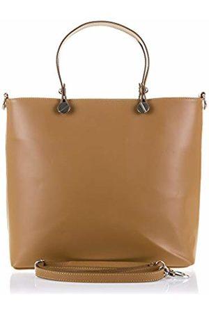 Firenze Artegiani Women's Handbag Genuine Leather, Tamponato Finish Shoulder Bag