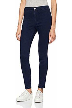Lost Ink Women's HIGH Waist Jegging Dark Denim Trousers, 0027