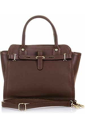 Firenze Artegiani Women's Handbag Genuine Leather Tamponate Finish Shoulder Bag
