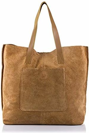 Firenze Artegiani Women's Shopping Bag Genuine Leather, Chamois Finish, Shoulder Bag