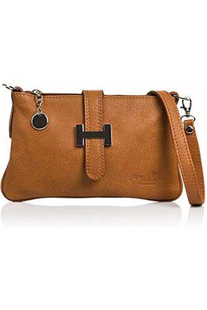 Firenze Artegiani Women's Genuine Leather Messenger Bag, Dollaro Finish Shoulder Bag