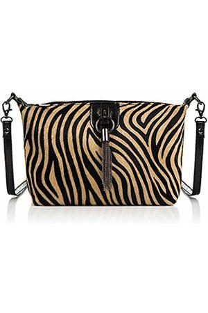Firenze Artegiani Women's Genuine Leather Tiger Shoulder Bag