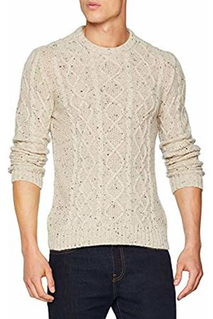 Original Penguin Men's Wool Alpaca Fisherman Jumper, (Oatmeal)