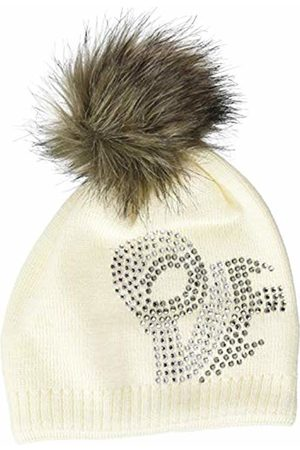 Döll Girls' Pudelmütze Strick Hat, (Snow 1050)
