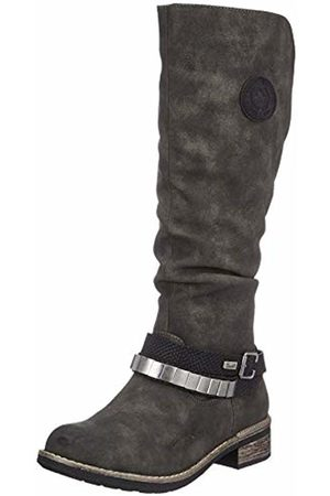 Rieker Women's 94661 High Boots, (Anthrazit Schwarz 45)