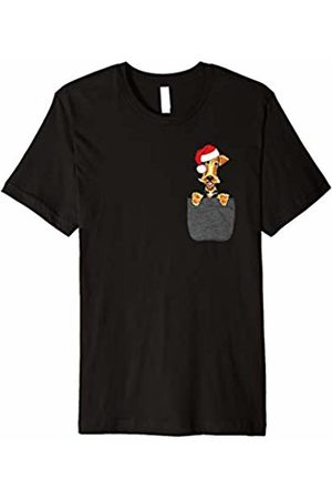 Dog Pocket Christmas Shirt Airedale Terrier Dog Santa Hat In Your Pocket Christmas Gift