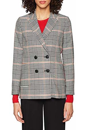 Rich & Royal Women's Double Breasted Check Blazer Suit Jacket