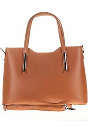 Firenze Artegiani Women's Genuine Leather Ruga Luxury Shoulder Bag 32 cm (Brown) - FA001819