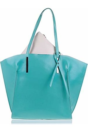 Firenze Artegiani Women's Handbag Genuine Leather, Handle and Decorative Bow, Shoulder Bag