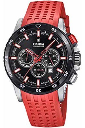 Festina Mens Chronograph Quartz Watch with Silicone Strap F20353/8