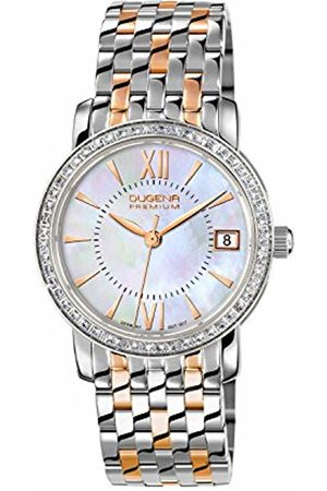 DUGENA Women's Premium Quartz Watch with Ivory Dial Analogue Display and Multi-Colour Stainless Steel Bracelet
