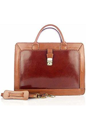 Firenze Artegiani Men's Briefcase Genuine Leather Bovino Finish Shoulder Bag