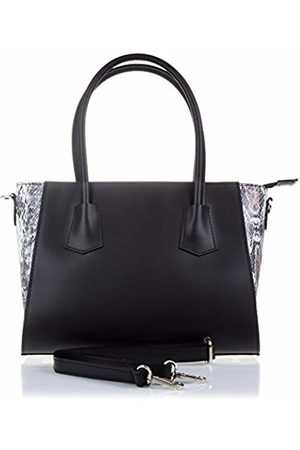 Firenze Artegiani Women's Handbag Genuine Leather, Engraved Snake Shoulder Bag