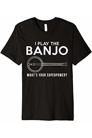 banjo t-shirt I play the banjo what's your superpower long sleeve t-shirt