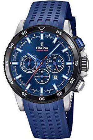Festina Mens Chronograph Quartz Watch with Silicone Strap F20353/3