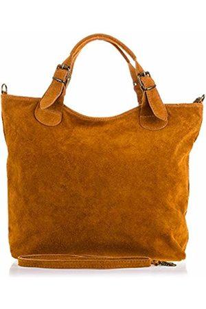 Firenze Artegiani Women's Shopping Bag Genuine Leather, Chamois Finish Shoulder Bag