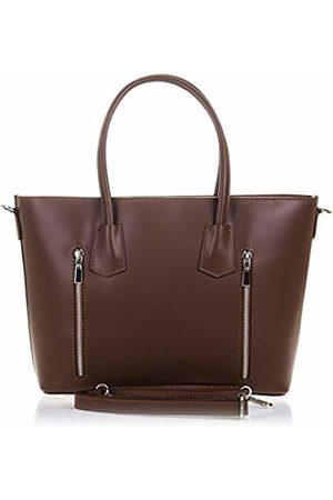 Firenze Artegiani Women Shoulder Bags - Women's Handbag Genuine Leather Tamponate Finish Shoulder Bag