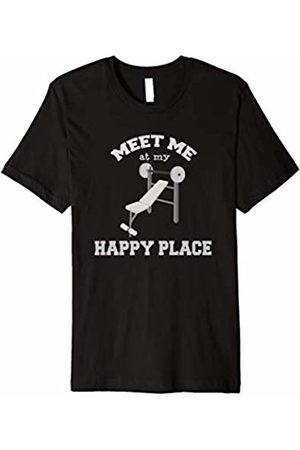Happy Place Gym - Working Out Bodybuilder Happy Place Gym T-Shirt - Working Out Bodybuilder Tee
