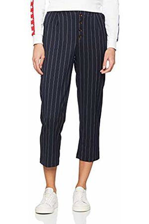New Look Women Trousers - Women's Pinstripe Button Front Trousers