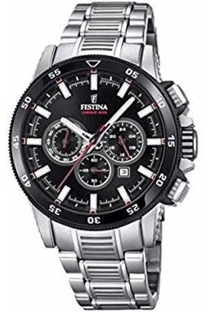 Festina Mens Chronograph Quartz Watch with Stainless Steel Strap F20352/6
