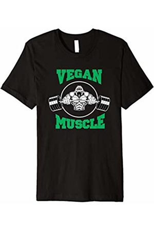Herbivore Power Gear Vegan Muscle T Shirt - Gorilla Vegetarian Plant Based Gym