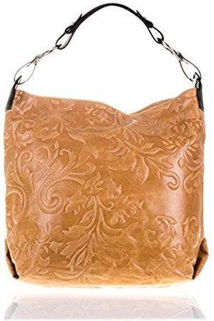 Firenze Artegiani Bolso De Mujer Piel Auténtica, Grabado Con Motivo Arabescos Y Lacado Messenger Bag