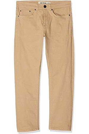 New Look Men's Coloured Crop Trousers, (Stone)