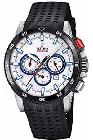 Festina Mens Chronograph Quartz Watch with Silicone Strap F20353/1