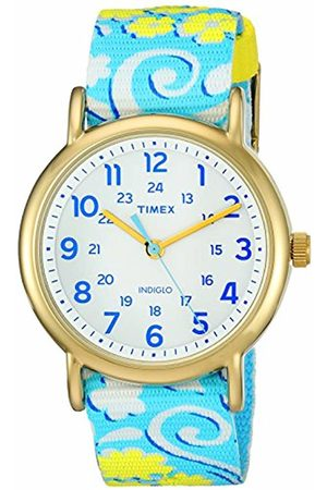 Timex Women's TW2P90100 Weekender Reversible Swirl Nylon Slip-Thru Strap Watch