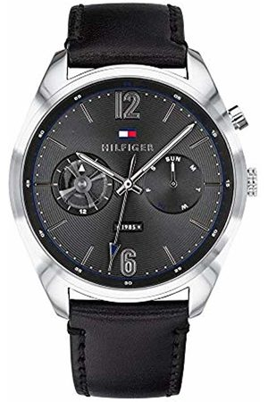Tommy Hilfiger Mens Multi dial Quartz Watch with Leather Strap 1791548