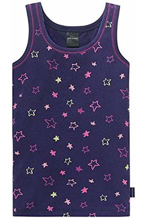 Schiesser Girl's Hemd 0/0 Vest, -Blau (Dunkelblau 803)