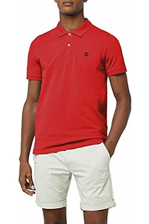 Selected Homme Men's Shharo Ss Embroidery Polo Noos T-Shirt, (Scarlet Sage)