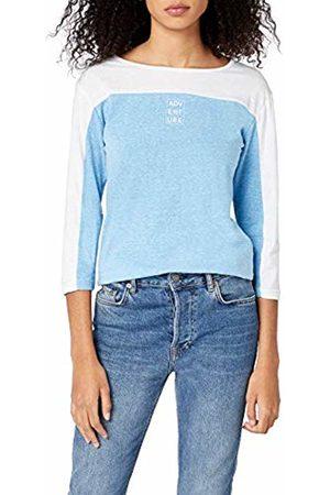 Intimuse Women's Long Sleeve T-shirt, (Hellblau Melange/weiß)