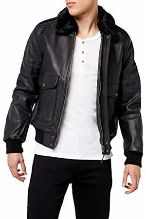 Schott NYC Men's LC5331X Jacket, Anthraciteblack