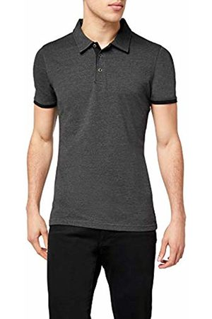 Lower East Men's Slim-fit Polo Shirt, Anthracite Mélange /