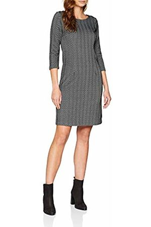 TOM TAILOR Women's Langarm Kleid mit strukturierter Herringbone Optik Dress