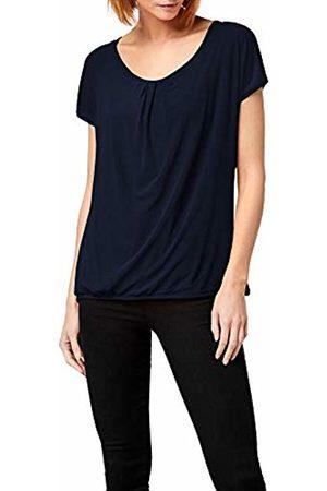 Berydale Women's Short Sleeve Shirt, Double Layered with Mesh Fabric, Navy