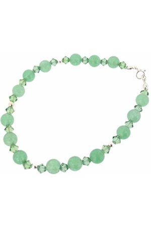 Earth Swarovski Crystal and Aventurine Bracelet at 19cm in Length