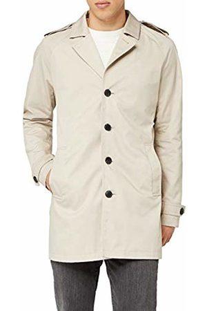 Jack & Jones Premium Men's Jprdavid Trenchcoat Noos Coat, Feather Gray