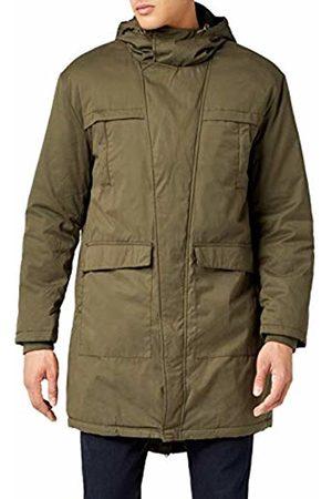 Urban classics Men's Cotton Peached Canvas Parka Jacket, -Grün (Olive 176)