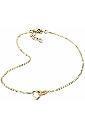 Goldhimmel Women's 925 Sterling Silver Plated Hearts Love Anklet