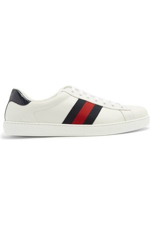 Gucci Ace Low-top Leather Trainers - Mens - Multi