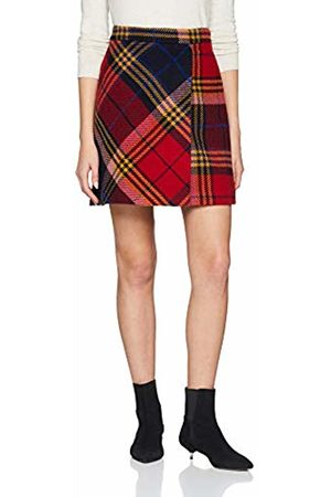 Tommy Hilfiger Women's Kathleen Mini Wrap Skirt, (Picnic Chk/Sky Captain 461)