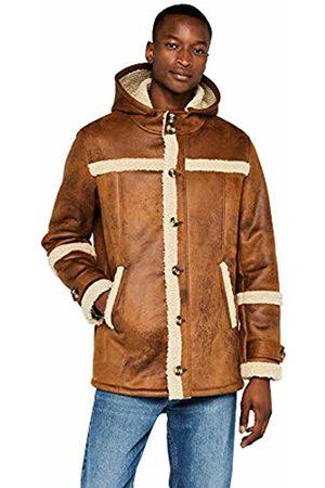 FIND Hooded Shearling Jacket, Camel