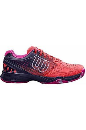 Wilson Kaos Comp W, Womens Tennis Shoes, (Fiery Coral/Evening / Glo)